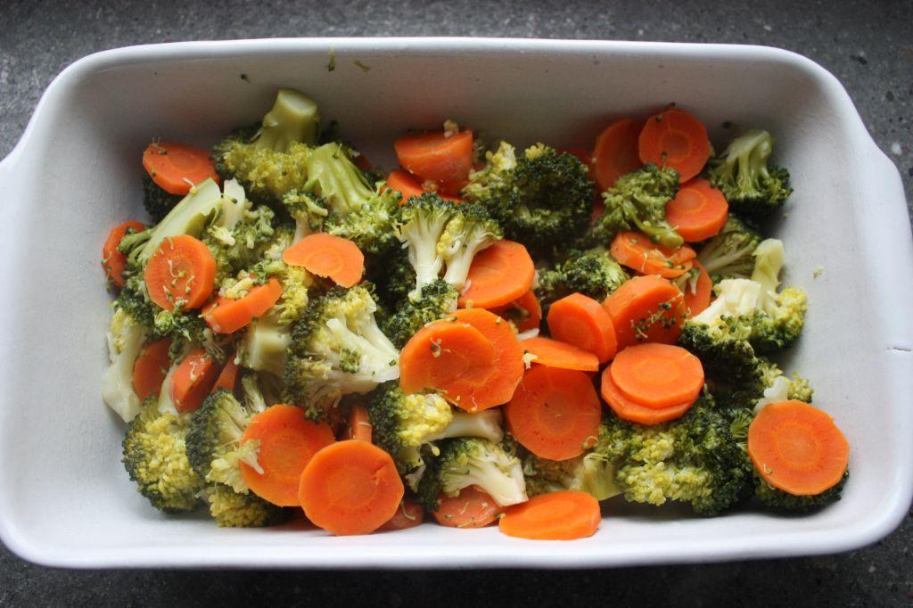 Aardappel ovenschotel met broccoli en ham