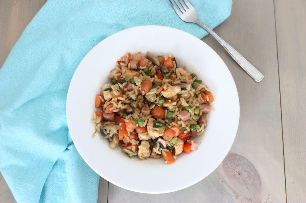 rijst met kip en groenten