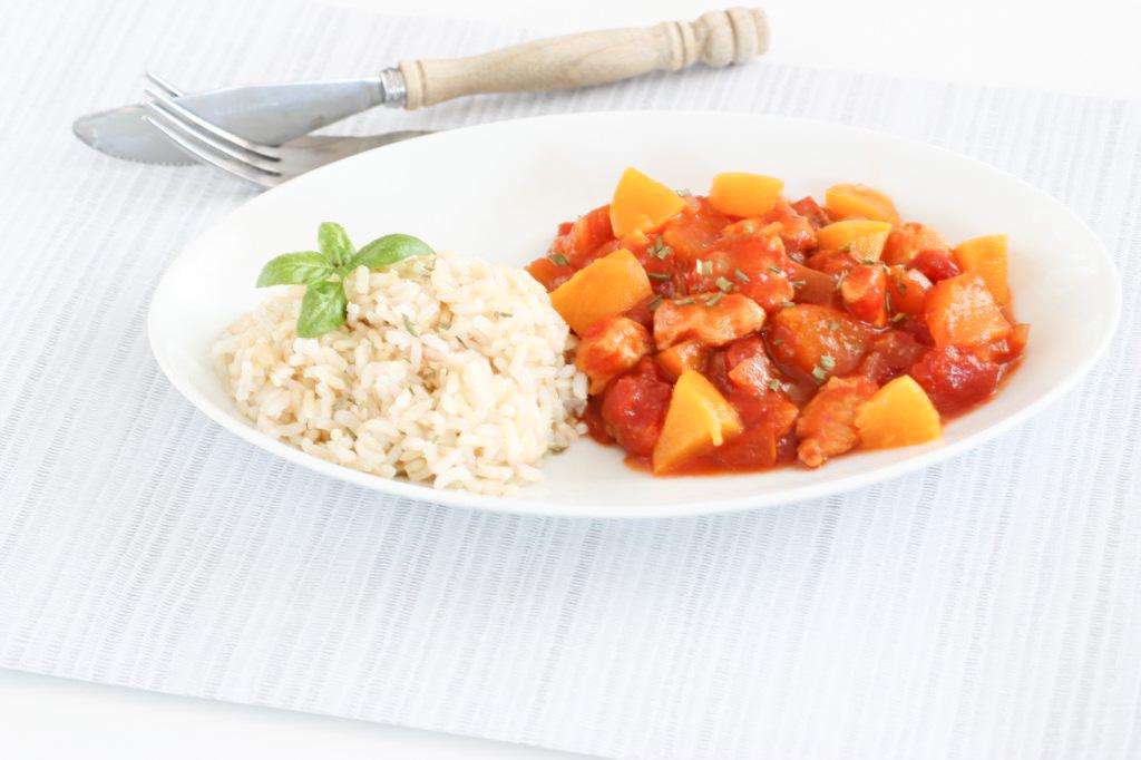 kip pilav met rijst