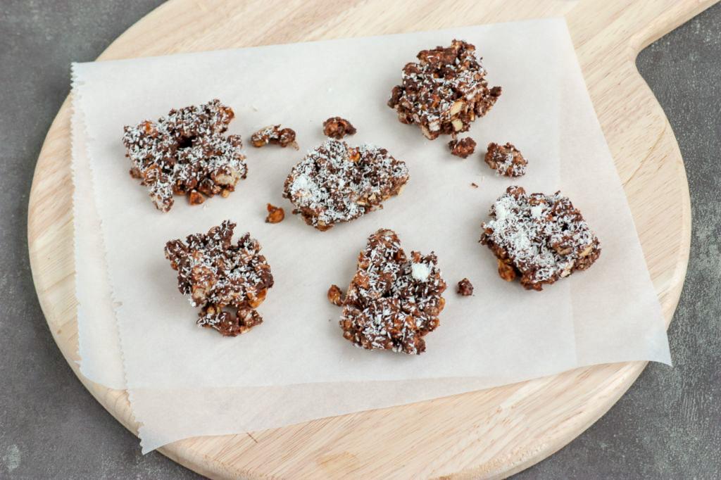Rijstwafel snacks met chocolade